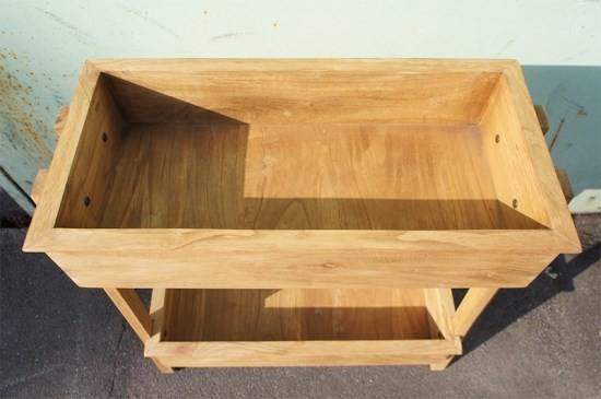 2段 ウッドプランターラック 園芸ラック 木製 組立