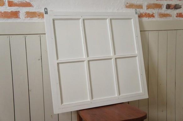 アンティーク調 窓枠 鏡 壁掛けミラー シャビー 6枠