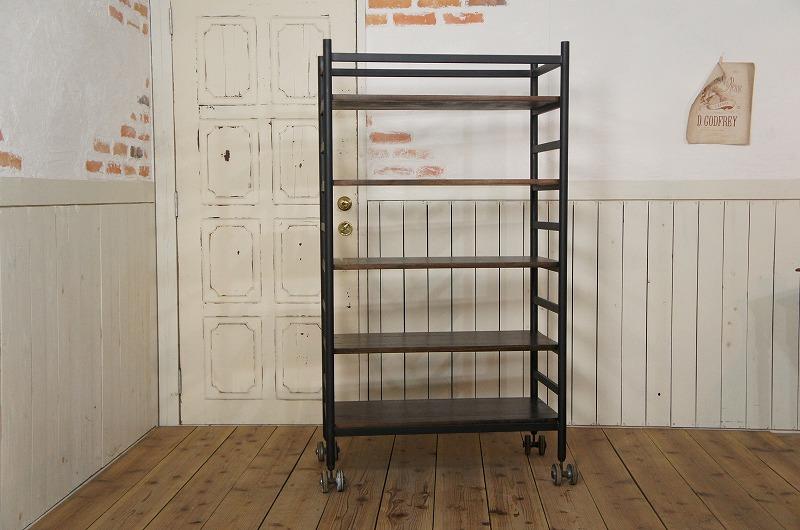 ビンテージ調 アイアンシェルフ 本棚 飾り棚 工業系