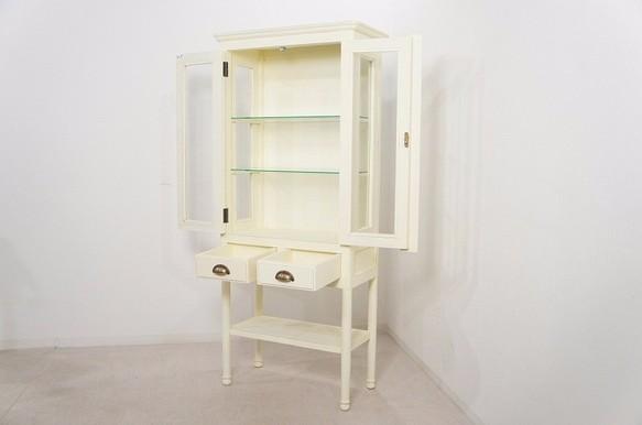 【引取限定】ガラスキャビネット スリム 医療棚 飾り棚 ケビント
