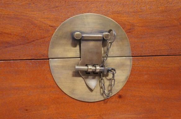 引出し3杯 マホガニー 収納ボックス 真鍮金具