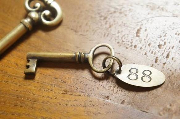 アンティーク調 アクセサリー キー 鍵 プレート88 真鍮