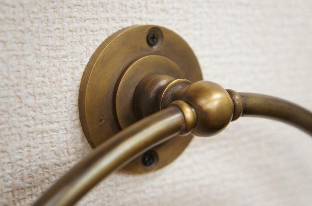 壁掛け タオルハンガー 円形 オーバルリング 真鍮製