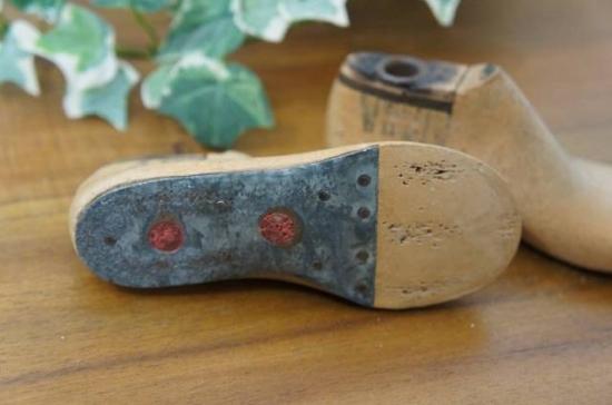 アンティーク シューモールド 木製靴型 4B 13cm 2個