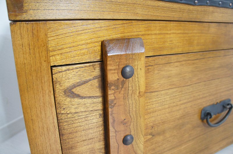 ビンテージベンチ型 チェスト ボックス 収納箱 木箱