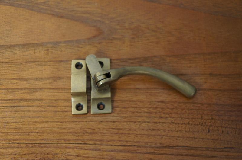 アンティーク調 真鍮製 ハンドル ラッチ ロック