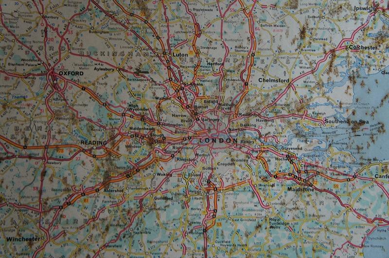 英国アンティーク ミシュラン イギリス地図 看板