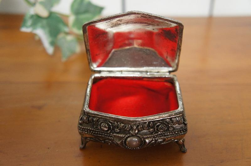 フランスアンティーク シルバー 銀製 小物入れ ジュエリーケース