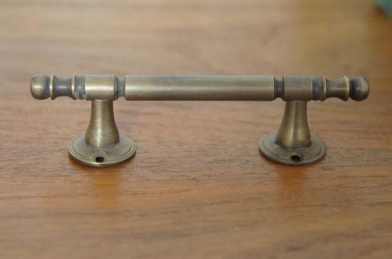 アンティーク調 ドアハンドル ストレートタイプ 真鍮製 SS