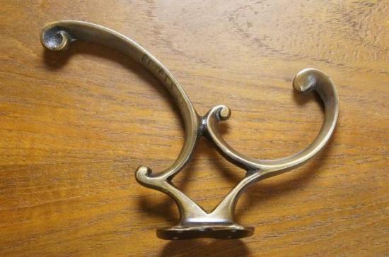 アンティーク調 ウォール ハンガーフック 真鍮製 125
