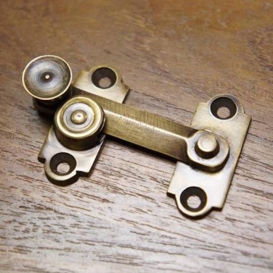 アンティーク調 ブラス ロック金具 小 真鍮製 掛金