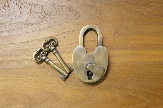 アンティーク調 ブラス 鍵 南京錠 鍵2本付属 パドロック