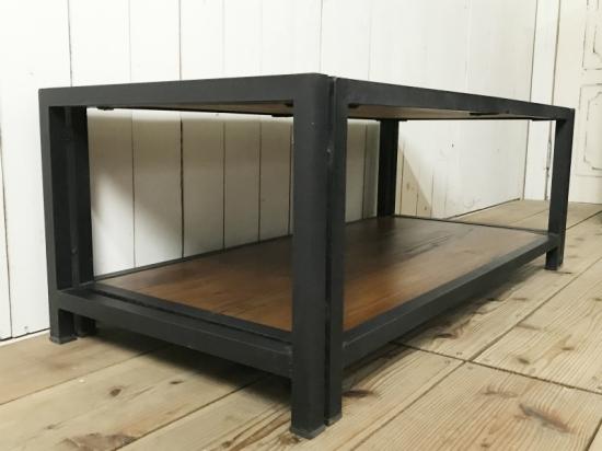 工業系インダストリアル アイアン ローテーブル W100