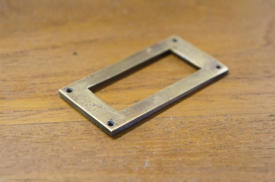アンティーク調 ネームホルダー 真鍮製