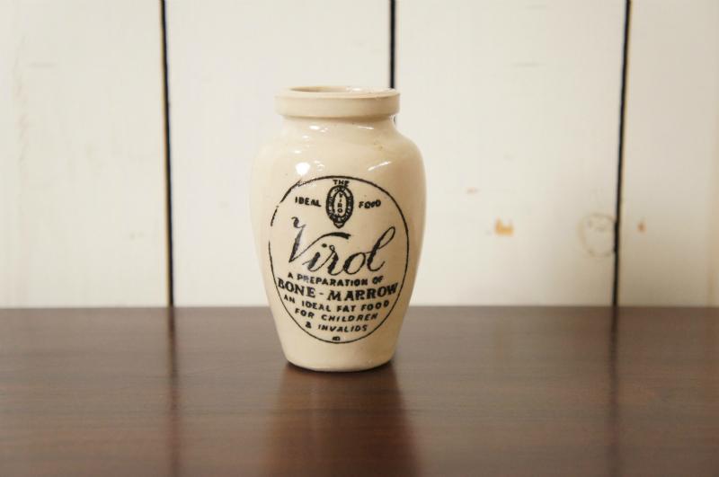 英国アンティーク VIROL ヴァイロール 陶器ポット