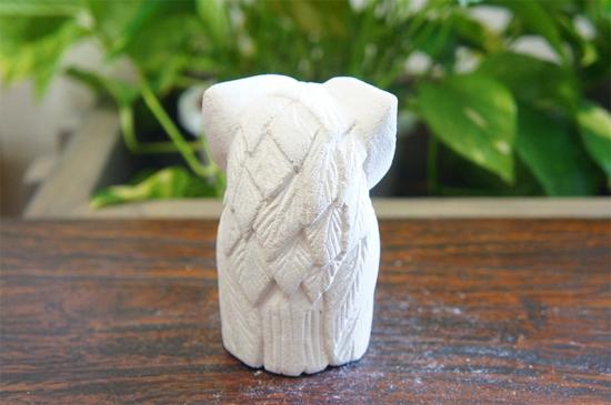 パラス石 石彫り シロフクロウ S