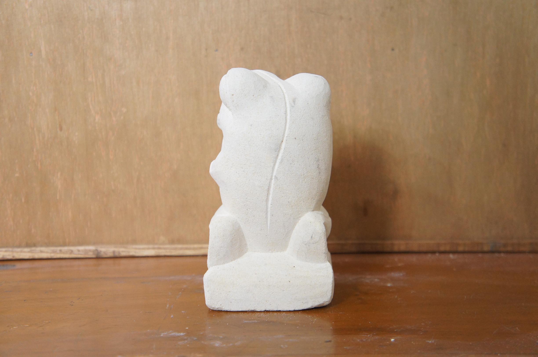 パラス石 石彫り カエル M