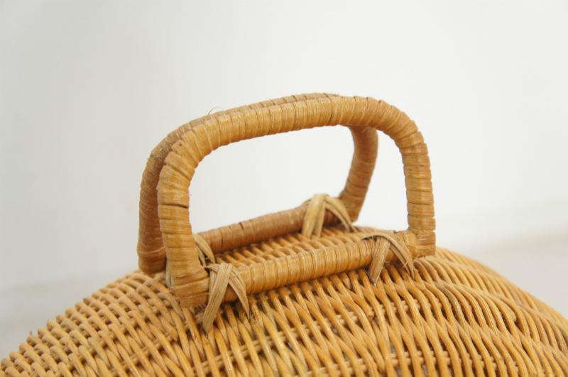 天然ラタン編み ドームハウス 猫・小型犬用