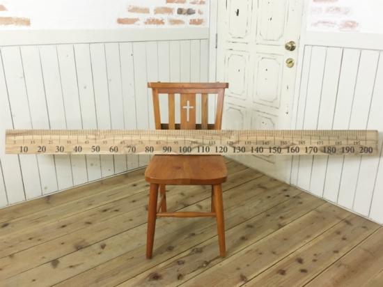 古木 チーク無垢材 2M 長尺スケール
