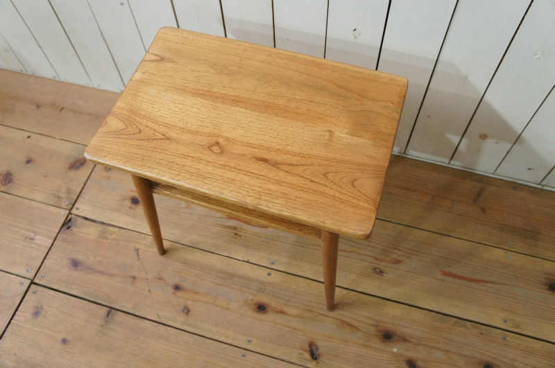アンティーク調 木製 ベッドサイドテーブル ミンディ無垢 小