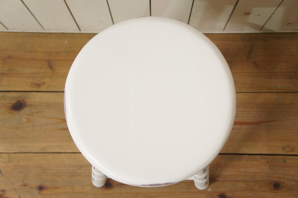 英国アンティーク調 西洋 スツール マホガニー丸椅子