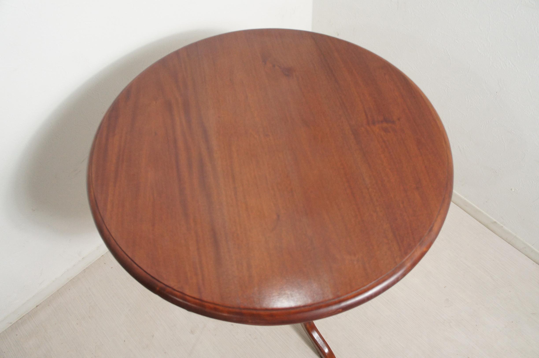 アンティーク調 マホガニー無垢 ティーテーブル コーヒーテーブル オーバルテーブル 円卓