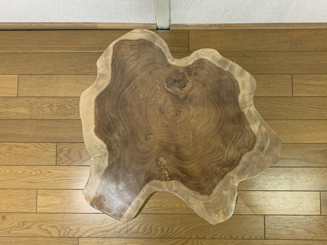 ミンディ 切り株 木目天板 鉄脚テーブル サイドテーブル スツール 花台 飾り台