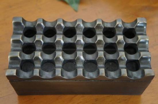 エスニック 灰皿 アシュトレー 長方形 ブラス色仕上げ